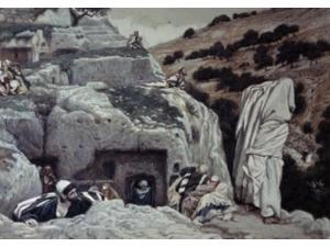 Apostles Hiding in the Valley of Hinnom, James Tissot (1836-1902 French) Poster Print (18 x 24)