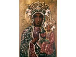 Black Madonna of Czestochowa, Icons, Jewels and precious stones Poster Print (18 x 24)