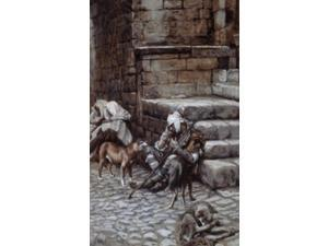 Lazarus at the Rich Man's Door, James Tissot  (1836-1902 French) Poster Print (18 x 24)