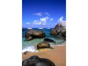 Baths of Virgin Gorda, British Virgin Islands, Caribbean Poster Print by Bill Bachmann (25 x 37)