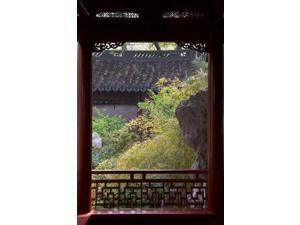 Landscape in Traditional Chinese Garden, Shanghai, China Poster Print by Keren Su (23 x 35)