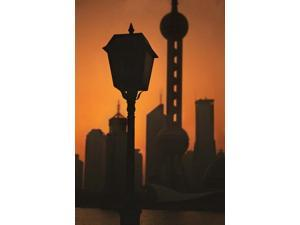 Oriental Pearl TV Tower and High Rises at Sunrise, Shanghai, China Poster Print by Keren Su (25 x 36)