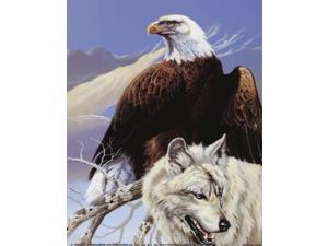Eagle and Wolf Poster Print by Gary Ampel (8 x 10)