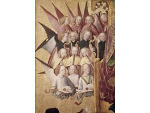 The Coronation of the Virgin (Detail): Choir of Angels, Late 15th C., Master of Life of the Virgin (active 1463-1480