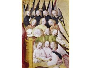 Choir of Angels (Detail), Life of the Virgin, Late 15th C., Master of Life of the Virgin (a.1463-1480/German), Tempera,