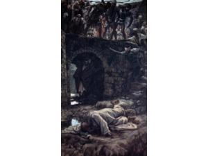Bridge Over the Brook Kedron, James Tissot (1836-1902 French) Poster Print (24 x 36)