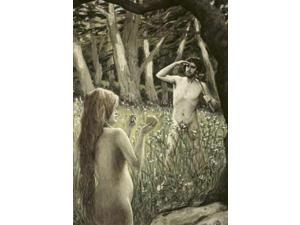 Adam Tempted by Eve Poster Print by James Jacques Tissot (20 x 28)
