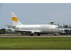 A Boeing 737-200 of the Indonesian Air Force Poster Print (34 x 22)