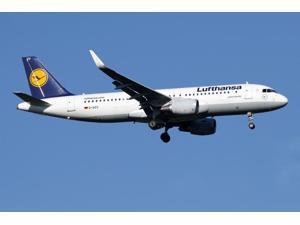 A Lufthansa Airbus A320-200 sharklet Poster Print (34 x 23)