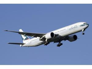 Boeing 777-200 of Cathay Pacific Airways Poster Print (34 x 23)