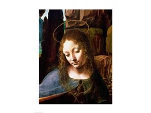 Detail of the Head of the Virgin, from The Virgin of the Rocks Poster Print by Leonardo Da Vinci (24 x 36)