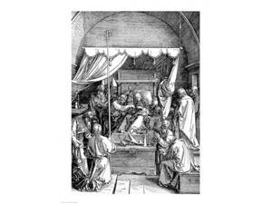 The Death of the Virgin from the 'Life of the Virgin' Poster Print by Albrecht Durer (24 x 36)