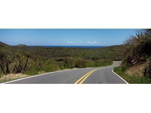 Road passing through a landscape, U.S. Virgin Islands Highway 107, Salt Pond Bay, St. John, US Virgin Islands Poster