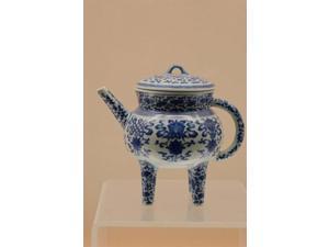 China, Shanghai, Shanghai Museum. China and porcelain, Jingdezhen ware Print by Cindy Miller Hopkins (11 x 16)