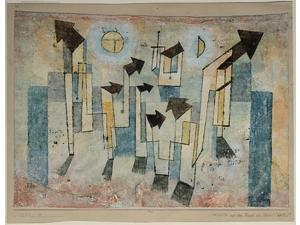 Mural from the Temple of Longing ThitherPoster Print by Paul Klee (German (born Switzerland), Münchenbuchsee