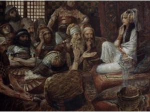 The Philistines Visit Delilah, James Tissot (1836-1902 French), Jewish Museum, New York Poster Print (18 x 24)