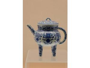 China, Shanghai, Shanghai Museum. China and porcelain, Jingdezhen ware Print by Cindy Miller Hopkins (11 x 16)