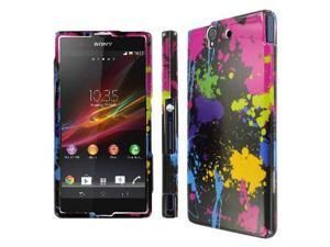 Sony Xperia Z Case, MPERO SNAPZ Series Glossy Case for Sony Xperia Z - Black Paint Splatter
