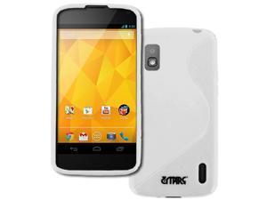 Nexus 4 Case, Empire Flexible S-Shape Poly Skin White Case for LG Google Nexus 4 E960