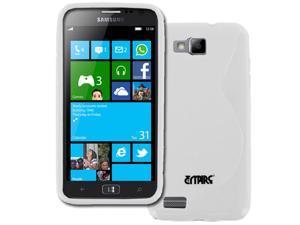 Samsung  ATIV S Case, Empire Flexible S-Shape Poly Skin White Case for Samsung ATIV S I8750