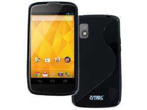 Nexus 4 Case, Empire Flexible S-Shape Poly Skin Black Case for LG Google Nexus 4 E960