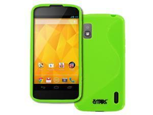 Nexus 4 Case, Empire Flexible S-Shape Poly Skin Neon Green Case for  Google Nexus 4 E960