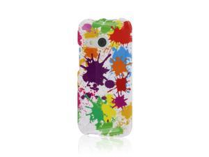 HTC One Mini 2 Case, MPERO SNAPZ Series Glossy Case for HTC One Mini 2 / One Remix - White Paint Splatter