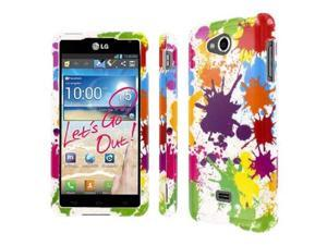 MPERO SNAPZ Series Glossy Case for HTC One M7 - White Paint Splatter