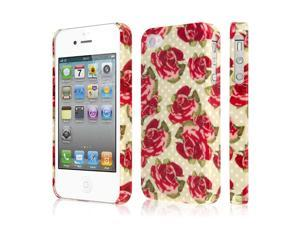 iPhone 4S Case, EMPIRE Signature Series One Piece Slim-Fit Case for Apple iPhone 4 / 4S - Vintage Red Roses