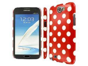 Samsung Galaxy Note 2 Case, EMPIRE Slim Fit Red and White Polka Dot Case for Samsung Galaxy Note 2 II