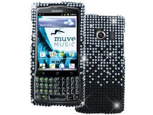 Empire Silver to Black Fade Diamante Bling Case for Huawei Ascend Q M660