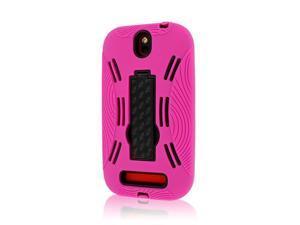 IMPACT XL Kickstand Case, HTC One SV, Hot Pink