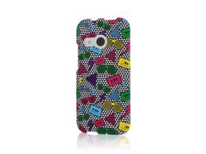 One Mini 2 Case, MPERO SNAPZ Series Rubberized Case for HTC One Mini 2 / One Remix - Neon 90's