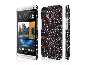 HTC One M7 Case, EMPIRE Signature Series One Piece Slim-Fit Case for HTC One M7 - Retro Red Dot