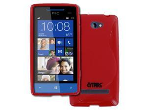 Empire Flexible S-Shape Poly Skin Red Case for HTC Windows Phone 8S