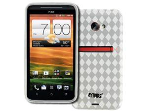 EMPIRE HTC EVO 4G LTE Poly Skin Case Cover (Clear Diamond Pattern) [EMPIRE Packaging]