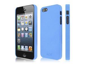 iPhone SE 5S Blue Case, EMPIRE KLIX Slim-Fit Hard Case for Apple iPhone SE 5 / 5S - Quicksand Light Blue