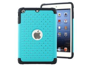 IMPACT XB Jeweled Hybrid Case, Apple iPad Mini (3rd Gen), Baby Teal