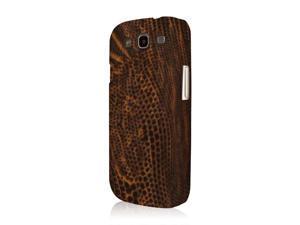 Galaxy S3 Case, EMPIRE KLIX Slim-Fit Hard Case for Samsung Galaxy S III I9300 T999 I747 - Brown Leather Croc