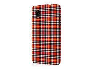 Nexus 5 Case, EMPIRE Signature Series One Piece Slim-Fit Case for Google Nexus 5 - Red Plaid