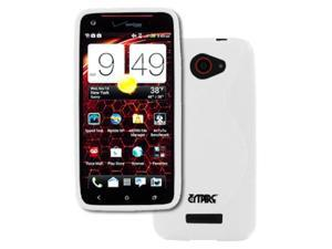 Empire Flexible S-Shape Poly Skin White Case for HTC DROID DNA 6435