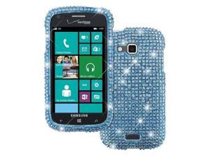 Empire Diamond Bling Case for Samsung ATIV Odyssey I930 - Teal Blue Silver Fade