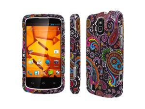 MPERO SNAPZ Series Rubberized Case for ZTE Force N9100 - Black Paisley