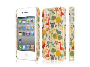iPhone 4S Case, EMPIRE Signature Series One Piece Slim-Fit Case for Apple iPhone 4 / 4S - Zoo Animals