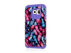 MINX Slim Protection Hybrid Case, Samsung Galaxy S6, Purple Boho Feathers