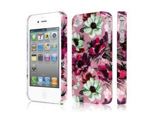 iPhone 4S Case, EMPIRE Signature Series One Piece Slim-Fit Case for Apple iPhone 4 / 4S - Vintage Pink Flower