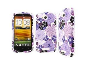 HTC One VX Case, EMPIRE Full Coverage Morning Lilac Garden Purple Flower Case for HTC One VX