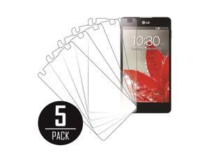 Clear Screen Protector Cover,  Optimus G, 5-Pack