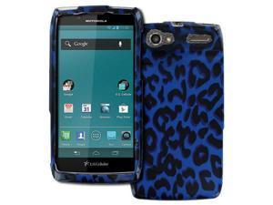 Electrify 2 Case, Empire Full Coverage Blue Leopard Case for Motorola Electrify 2
