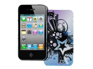EMPIRE Apple iPhone 4 / 4S Stealth Design Case Cover (Purple and Blue Starburst) [EMPIRE Packaging]